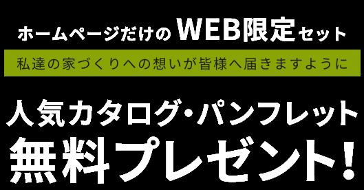 ホームページだけのWEB限定セット 人気カタログ・パンフレット無料プレゼント!
